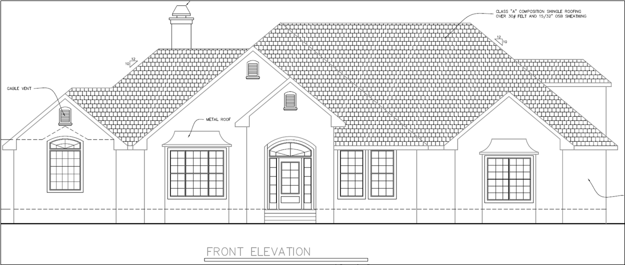 Custom Front Elevation